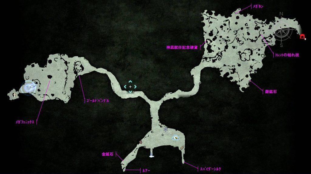 ファイナルファンタジーXV FinalfantasyXV プレイ日記 攻略 メルロの森 採集 マップ MAP アイテム:トレジャー スポット